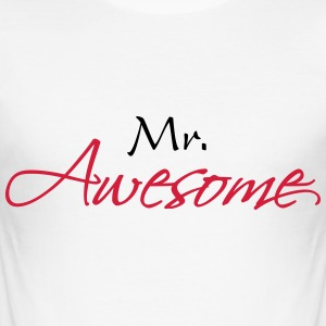Mr Awesome T-Shirts - Men's Slim Fit T-Shirt