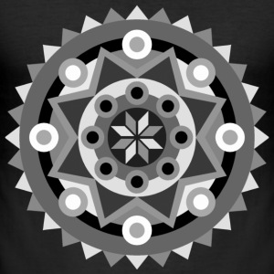 mandala black T-Shirts - Men's Slim Fit T-Shirt