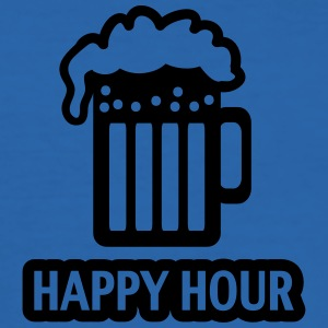 HAPPY HOUR - BEER DRINKING - GLAS  - PATRICK`S DAY T-Shirts - Men's Slim Fit T-Shirt