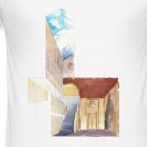 architecture perspective watercolour T-Shirts - Männer Slim Fit T-Shirt