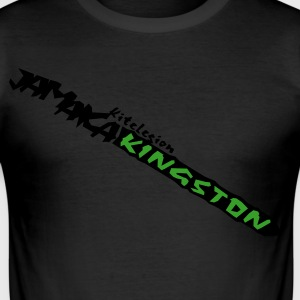 jamaica_kingston_vec_2nl T-shirts - Männer Slim Fit T-Shirt