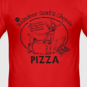 Reindeer Goat's Cheese Pizza (inspired by Bruce Wi - Men's Slim Fit T-Shirt