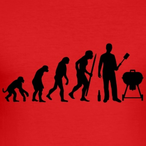 Evolution BBQ Griller T-Shirts - Männer Slim Fit T-Shirt