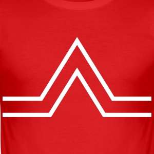 triangle sign T-shirts - Slim Fit T-shirt herr
