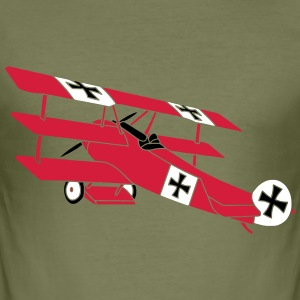 Fokker Roter Baron Red Air Combat First World War  T-Shirts - Men's Slim Fit T-Shirt