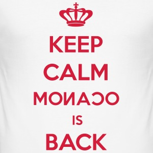 Keep Calm Monaco is Back Tee shirts - Tee shirt près du corps Homme
