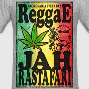 smoke ganja every day reggae jah rastafari T-Shirts - Men's Slim Fit T-Shirt