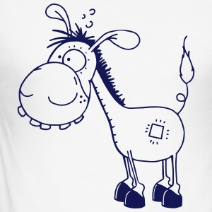 Funny little Donkey - Donkeys T-Shirts - Men's Slim Fit T-Shirt