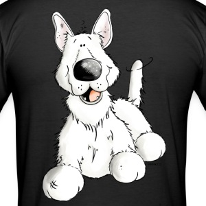 Berger Allemand Blanc Chien - Race - Chiens Tee shirts - Tee shirt près du corps Homme