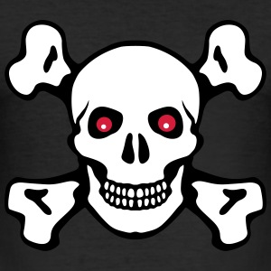Skull crossed bones red eyes - Men's Slim Fit T-Shirt