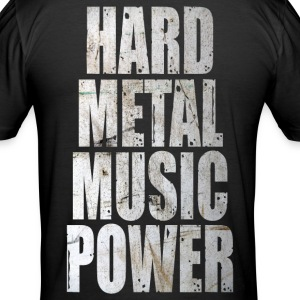 Hard metal music power Tee shirts - Tee shirt près du corps Homme