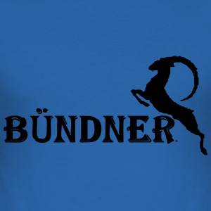 Bündner  T-Shirts - Männer Slim Fit T-Shirt