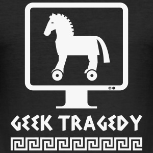 Geek Tragedy - Men's Slim Fit T-Shirt