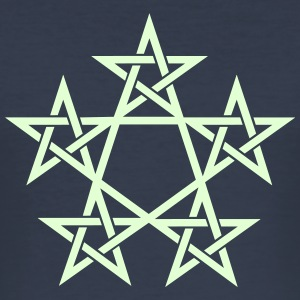 Pentagram, Glow in the dark, 5 Stars, Magic T-Shirts - Men's Slim Fit T-Shirt