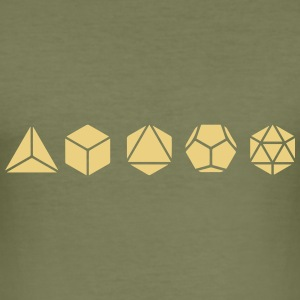 Platonic Solids, Sacred Geometry, Mathematics T-Shirts - Men's Slim Fit T-Shirt