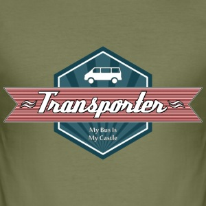 Transporter Retro-Red [Men] - Männer Slim Fit T-Shirt