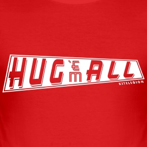 hug_em_all_vec_1 T-Shirts - Men's Slim Fit T-Shirt