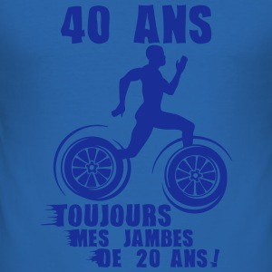 40 ans jambes course sprinter athlete 20 Tee shirts - Tee shirt près du corps Homme