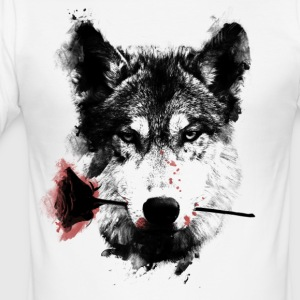 Wolf Lover - Männer Slim Fit T-Shirt