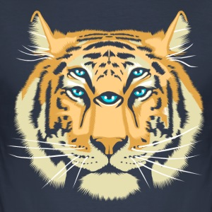 Navy Tiger Spirit Guide T-Shirts - Men's Slim Fit T-Shirt