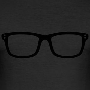 Brille T-Shirts - Männer Slim Fit T-Shirt