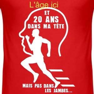 ajouter age ans tete jambes sport annive Tee shirts - Tee shirt près du corps Homme