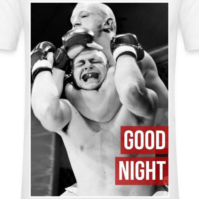 Mens MMA Fashion Hipster Tshirt - 'Goodnight Choke'