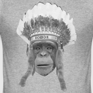 indian headdress monkey T-shirts - Slim Fit T-shirt herr