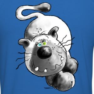 Crazy Cat - Cartoon - Siamese T-Shirts - Men's Slim Fit T-Shirt