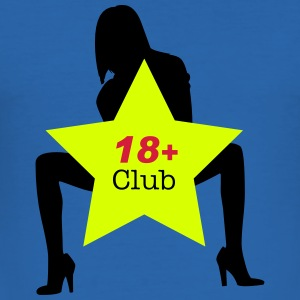 18+ Club T-Shirts - Männer Slim Fit T-Shirt