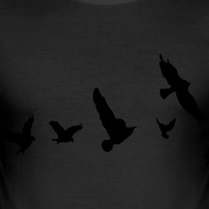 Flying birds nature  Men's Slim Fit T-shirt - Men's Slim Fit T-Shirt