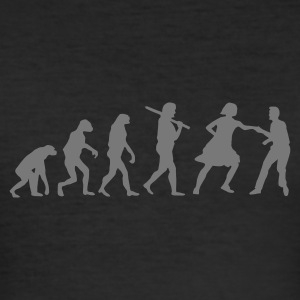 Lindy Hop Evolution - Männer Slim Fit T-Shirt