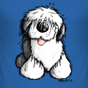 Bobtail Chien- Old English Sheepdog Tee shirts - Tee shirt près du corps Homme