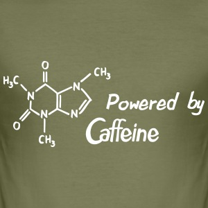 Powered by Caffeine T-Shirts - Männer Slim Fit T-Shirt