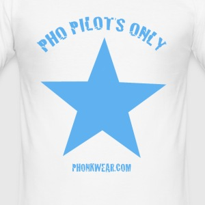 pho pilots only - Männer Slim Fit T-Shirt