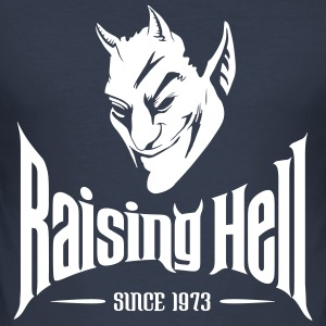 Raising Hell Since 1973 - 40th Birthday T Shirt - Men's Slim Fit T-Shirt