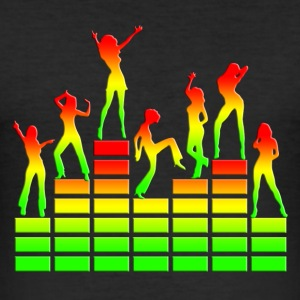 Dancing girls - Equalizer - EQ -  Music - Reggae T-shirts - slim fit T-shirt