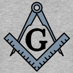 freemason symbol, masonic square & compass T-shirts - Slim Fit T-shirt herr
