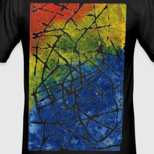 Chromatic Labyrinth. Stamper Colors. T-Shirts - Men's Slim Fit T-Shirt