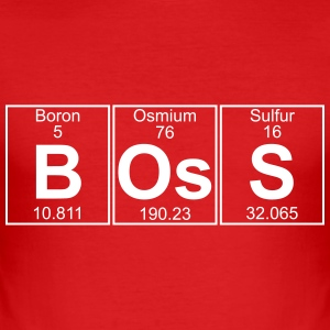 B-Os-S (boss) - Full T-Shirts - Men's Slim Fit T-Shirt