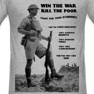 Win the War - Kill the Poor T-Shirts - Men's Slim Fit T-Shirt