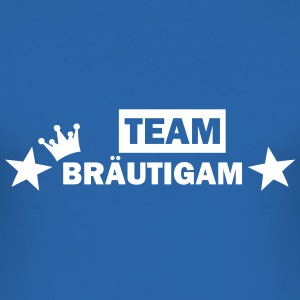 team bräutigam T-Shirts - Männer Slim Fit T-Shirt
