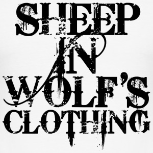Sheep In Wolf's Clothing - Black T-Shirts - Männer Slim Fit T-Shirt