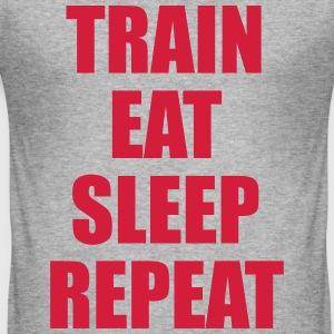 Train Eat Sleep Repeat T-skjorter - Slim Fit T-skjorte for menn