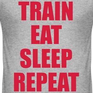 Train Eat Sleep Repeat T-shirts - slim fit T-shirt