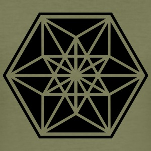 Cuboctahedron, sacred geometry,vector equilibrium Tee shirts - Tee shirt près du corps Homme
