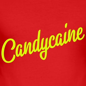 Candycaine script - Men's Slim Fit T-Shirt
