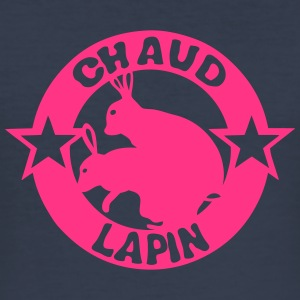 chaud lapin expression logo sexe Tee shirts - Tee shirt près du corps Homme