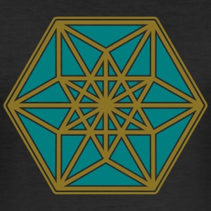 Cuboctahedron, structure of the universe, Fuller T-shirts - slim fit T-shirt