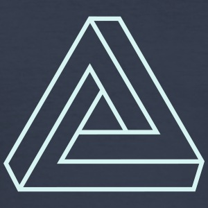 Penrose triangle, Impossible, illusion, Escher Camisetas - Camiseta ajustada hombre